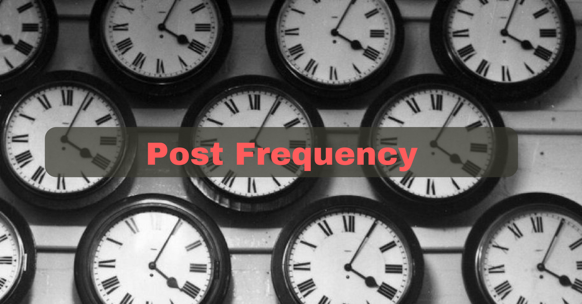 Social media post frequency